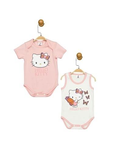 Hello Kitty Lisanslı Bebek 2'Li Body 17476 Ekru